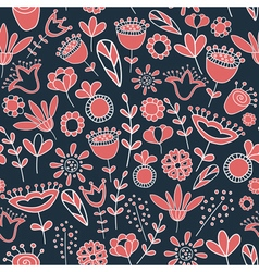 Dark floral pattern vector