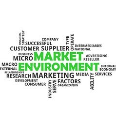 Word cloud market environment vector