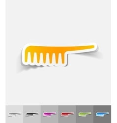Realistic design element comb vector