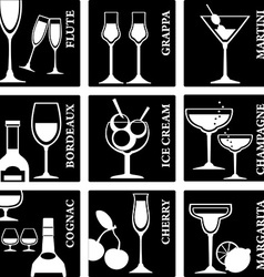 Alcoholsigns vector