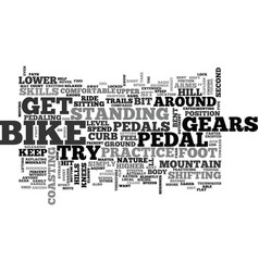 Beginner mountain bike skills text word cloud vector