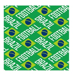 Brazil football seamless pattern vector image vector image