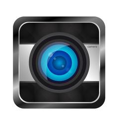 Color photo camera icon vector image vector image