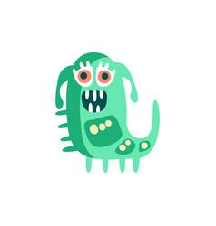 cute happy cartoon monster fabulous incredible vector image vector image