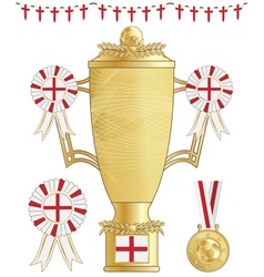 england football trophy vector image