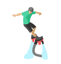 Extreme sport flyboard summer action splash active vector