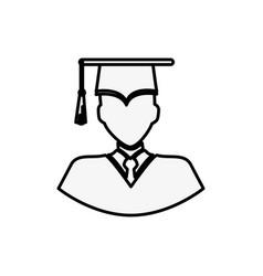 graduate man icon vector image