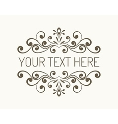 Hand drawn decorative border vector image