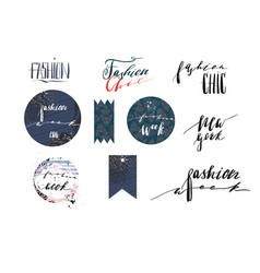 Hand drawn template collection with vector