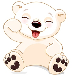 Happy polar bear vector