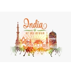 India of my dream of India in vector image