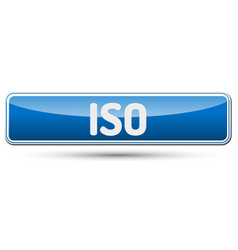 Iso - abstract beautiful button with text vector