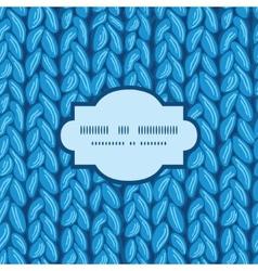 Knit sewater fabric horizontal texture frame vector