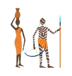 Maasai african people vector