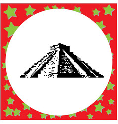mayan pyramid of kukulcan el castillo in chichen vector image