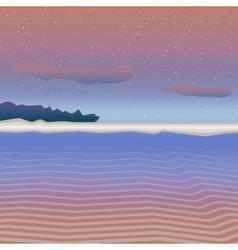 Pastel sea landscape vector image