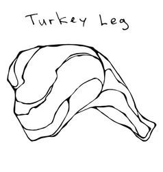 raw turkey leg realistic vector image vector image