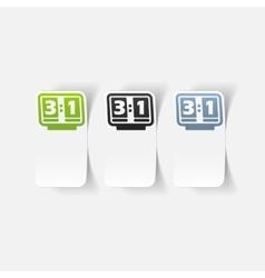 Realistic design element score board vector