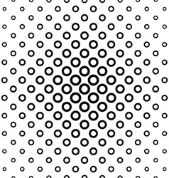 Repeating black white ring pattern vector