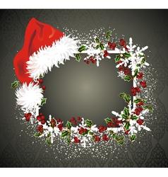Santa claus red hat vector