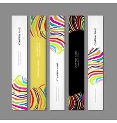 Set of banners colorful zebra print design vector