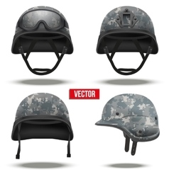 Set of Military tactical helmets pixel color vector image vector image