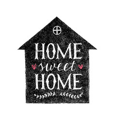 sweet home hand lettering poster vector image vector image