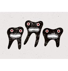 Typographic retro grunge dental poster vector