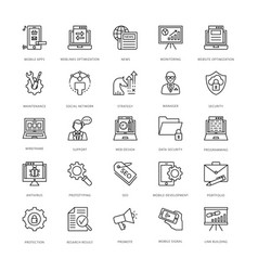 Web design and development icons 8 vector