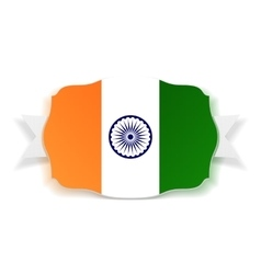 India flag banner with ribbon vector