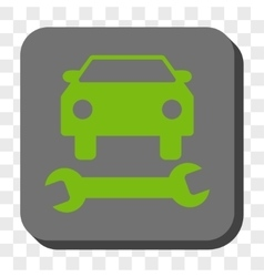 Car repair rounded square button vector