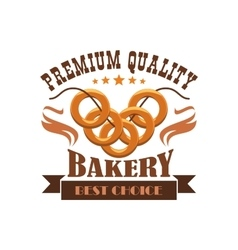 Bakery shop menu sticker emblem business label vector