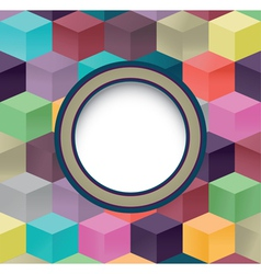Abstract cube background cover with frame vector