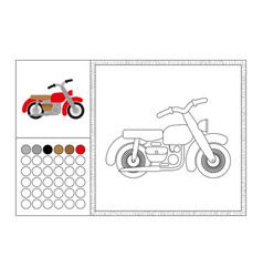 Motorbike coloring book page template vector