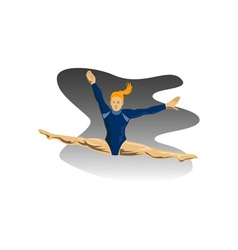 Gymnast jumping split vector