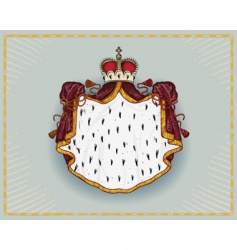 royal mantle vector image