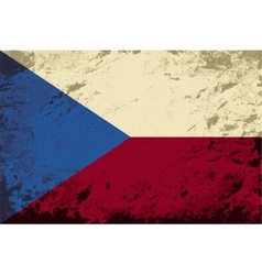 Czech flag grunge background vector