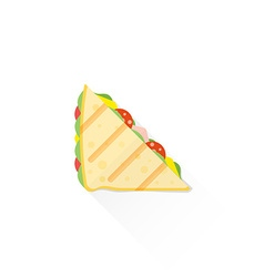 Color fast food club sandwich icon vector