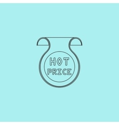 Hot price sticker badge label vector