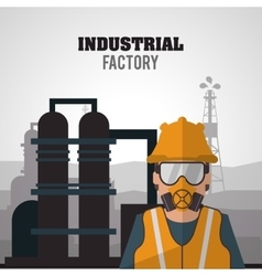 Industrial factory design vector