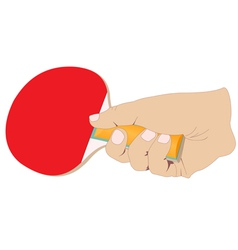 Hand with a tennis racket vector