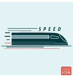 Train icon isolated vector