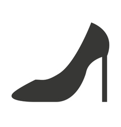High heel shoes isolated icon design vector