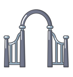 Archway metal icon cartoon style vector