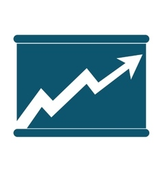arrow graph chat icon vector image