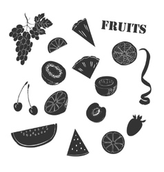 Background with fruit1-09 vector image vector image