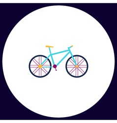 Bicycle computer symbol vector image