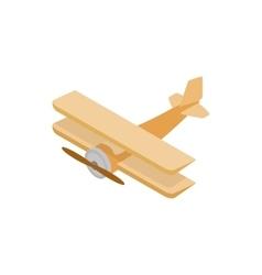 Biplane icon isometric 3d style vector