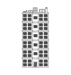 Building residential apartment structure image vector
