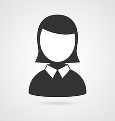 Business woman icon vector image